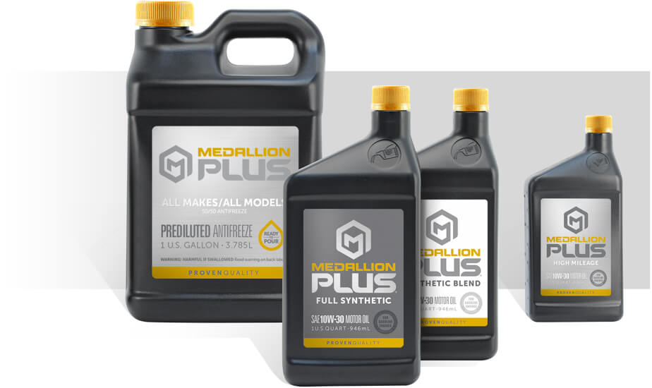 Medallion Plus bottle sizes packaging display